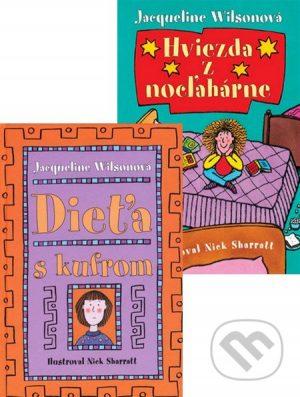 Jacqueline Wilson: Dieťa s kufrom + Hviezda z nocľahárne - Jacqueline Wilson,  Jacqueline Wilsonová,  Jacqueline Wilsonová knihy,  knihy pre deti, knihy pre dievcata, knihy pre deti od 10 rokov, najlepšie knihy pre deti, knihy pre mladez, knihy pre deti od 8 rokov, knihy pre dievčatá od 10 rokov, detske knihy vypredaj, knihy pre dievčatá od 8 rokov, knihy pre deti od 9 rokov, kniha pre 9 rocne dievcata, tipy na knihy pre deti, knihy pre 10 ročné deti, kniha pre dospievajúce dievčatá, knihy pre deti a mládež, kniha o dospievaní pre dievčatá, dobrodružné knihy pre mládež